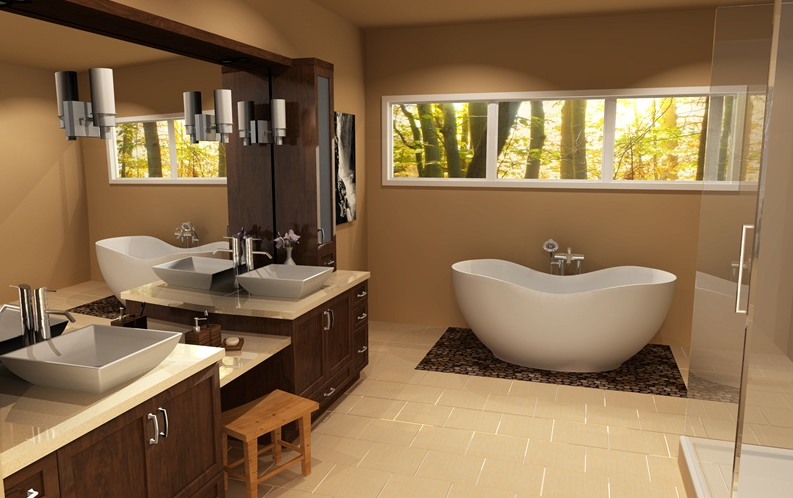 Bathroom design mendo mill lumber co for 3d bathroom drawing